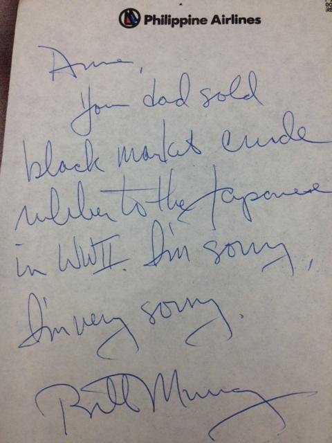 bill murray autograph