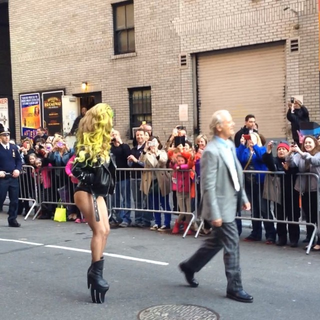 Bill Murray and Lady Gaga