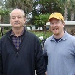 bill murray playing golf in charleston