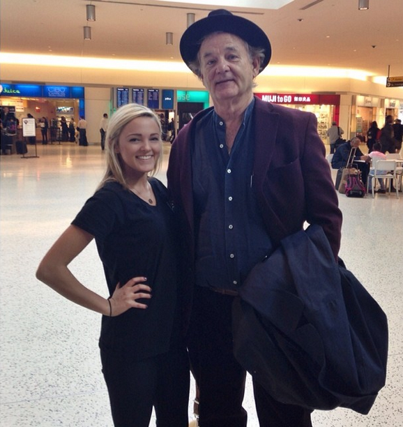 bill murray at jfk airport