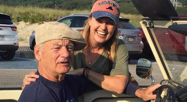 bill murray in a convertible
