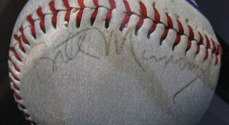 Bill Murray signed baseball